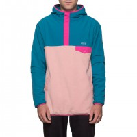 MUIR HOODED PULLOVER JACKET DARK TEAL