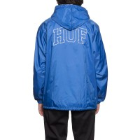ARCH BLOCK HOODED COACH JACKET ROYAL