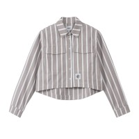 HUF WOMEN'S REGIONAL OXFORD SHIRT BEIGE STRIPE
