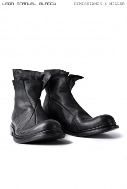 LEON EMANUEL BLANCK x Dimissianos & Miller DISTORTION ANKLE BOOTS / GUIDI CALF REVERSED