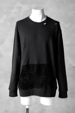 RESURRECTION HANDMADE leather remake sweat shirt